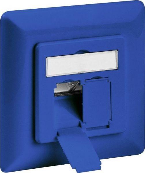 CAT 6a Unterputzdose 2xRJ45, geschirmt, blau